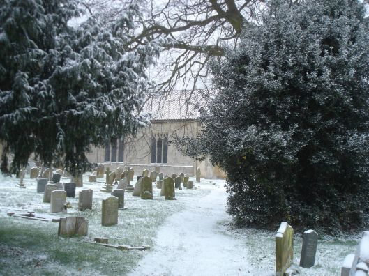 St. Mary's, Holme-next-the-Sea - Winter scene